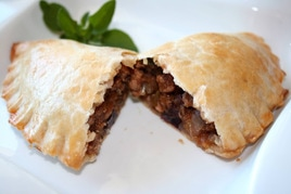 Monadnock Oil and Vinegar - WILD MUSHROOM AND ZUCCHINI EMPANADA WITH OLIVE OIL PASTRY