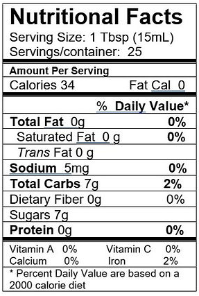 Cascadian Wild Raspberry Nutrition Facts