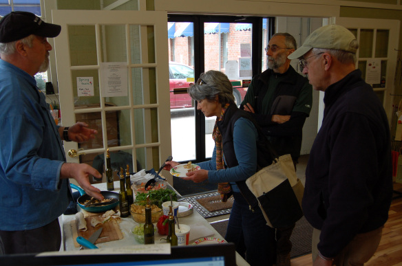 Monadnock Oil and Vinegar, LLC - customers chat with Chef Joe Stanislaw and try some of his dishes