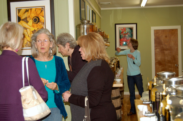 Monadnock Oil and Vinegar, LLC - customers chatting and trying the great dishes