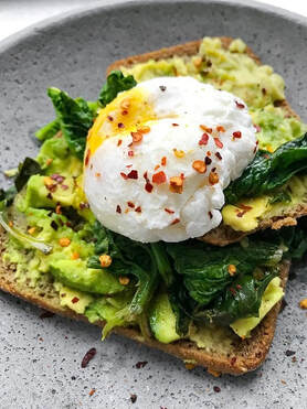 Avocado Toast w/Poached Egg Picture