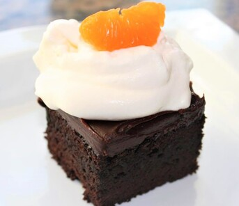 Blood Orange Chocolate Cake Picture